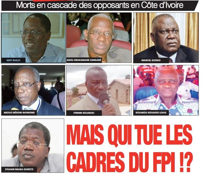 Morts en cascade des opposants en Côte d'Ivoire - Fresco Courriels